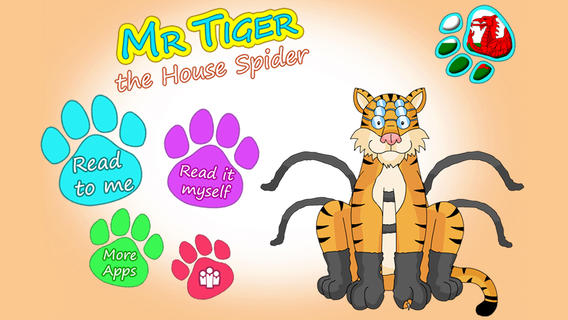 Mr Tiger the House Spider - Animoolz