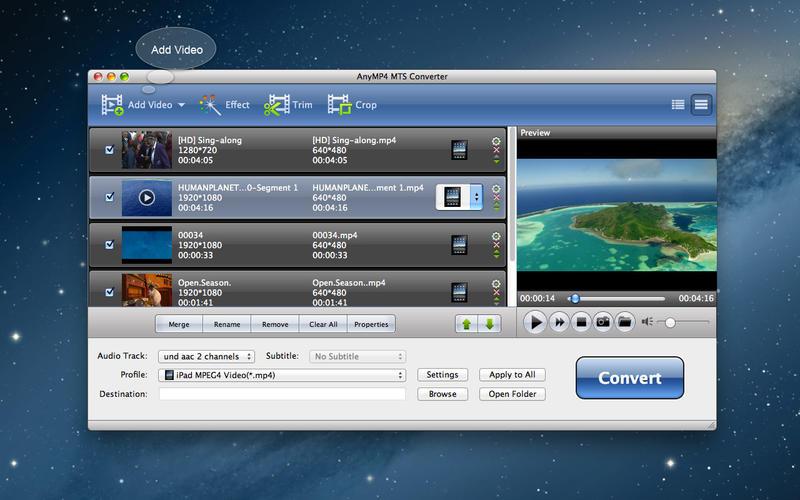 AnyMP4 MTS Converter Screenshot - 1
