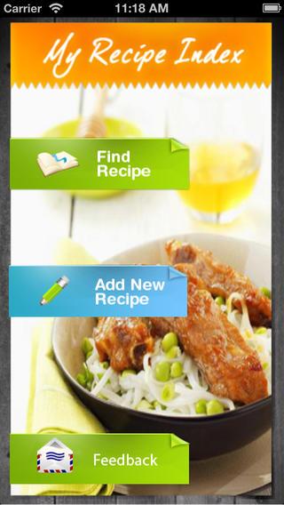 My Recipe Index HD
