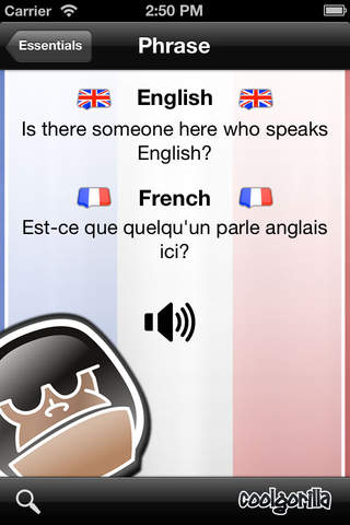 French Talking Phrasebook screenshot 3