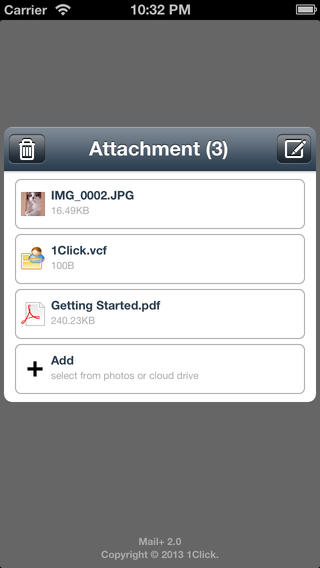 Mail+ send attachment more easily