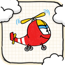 Doodle Helicopter Game FREE - One of the Best Addicting and Funny Plane Flying Racing Games mobile app icon