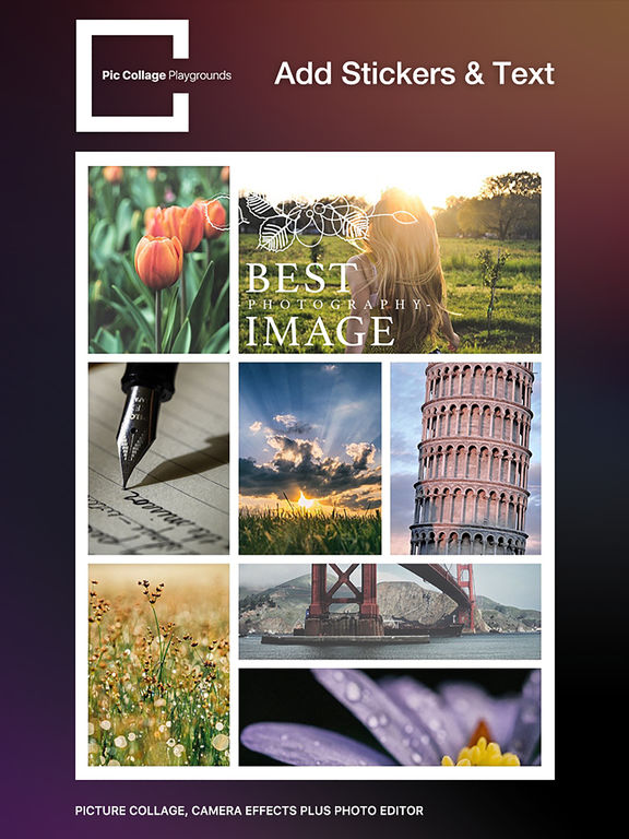 Pic Collage Playgrounds – picture collage, camera effects plus photo editor Screenshots