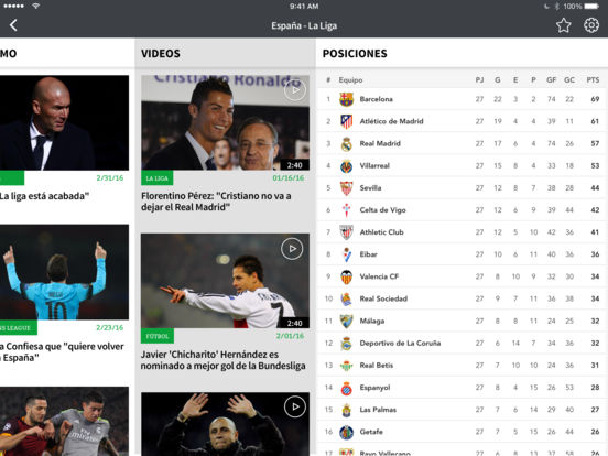 Univision Fútbol iPad Screenshot 5