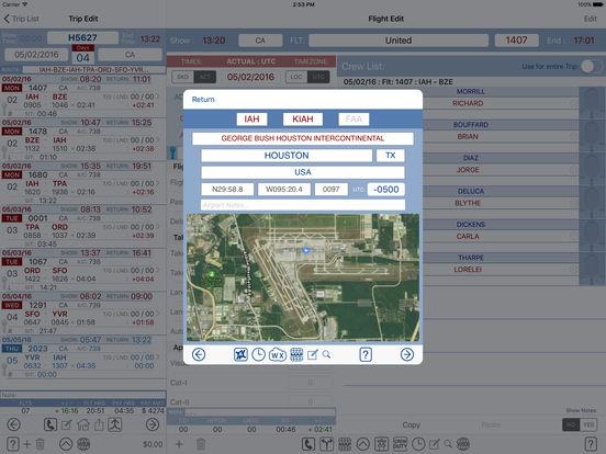 FltCrew-iLog ... Airline Crew Logbook iPad Screenshot 4
