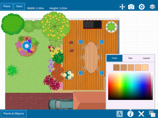 Garden Designer App long narrow garden design long narrow garden design app garden post garden designer app Ipad Screenshot 2