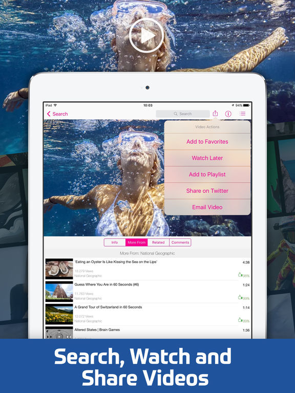 Screenshots of Video Tube Free - Stream and Play Videos for iPad