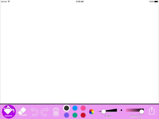 Kids drawing App - Simple Draw & Coloring Tool For iPad iPad Screenshot 1