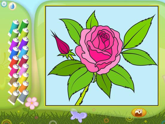 Раскрась по номерам - Цветы - Бесплатно на iPad
