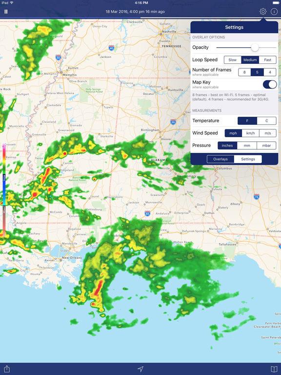 Screenshots of NOAA Weather Radar - Weather, National Forecast Maps & Live Doppler Radars for iPad