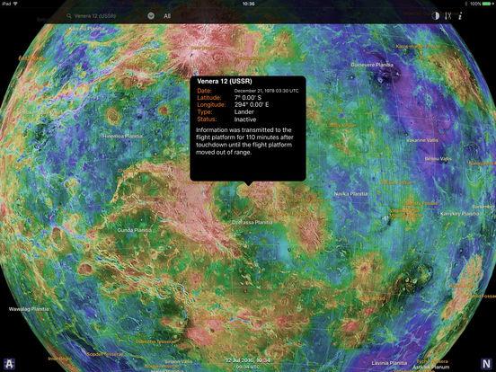 Venus Atlas iPad Screenshot 3