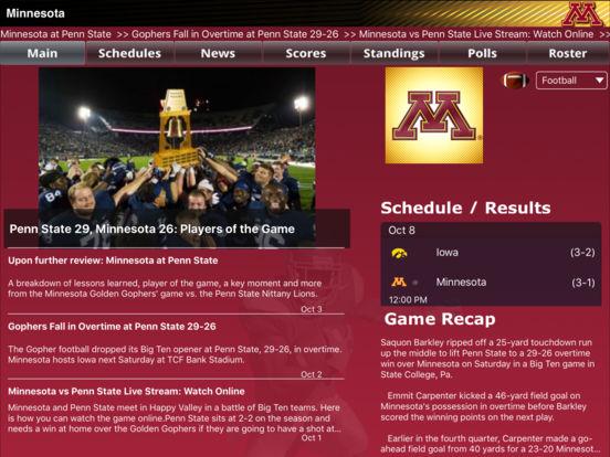 Minnesota Gophers College SuperFans iPad Screenshot 2