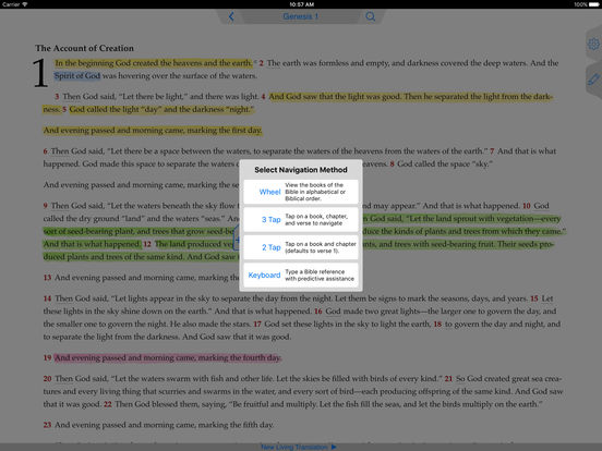 NLT Bible iPad Screenshot 3