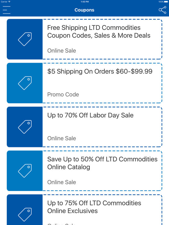 Ltd commodities discount coupons