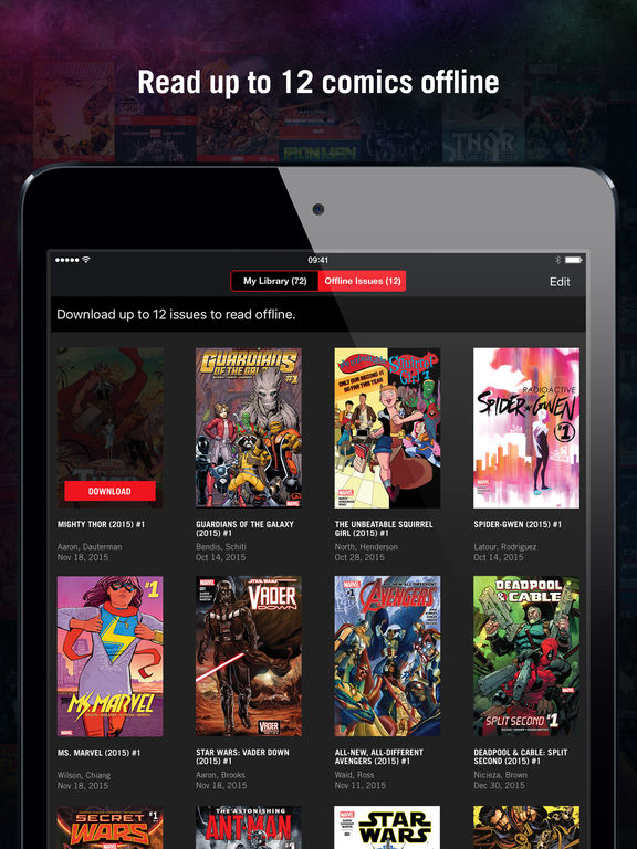 Marvel unlimited comics