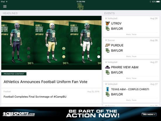Baylor Bears iPad Screenshot 2