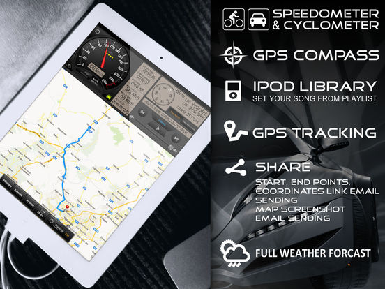 Speedometer GPS+(Car speedometer, Bike cyclometer) Screenshots