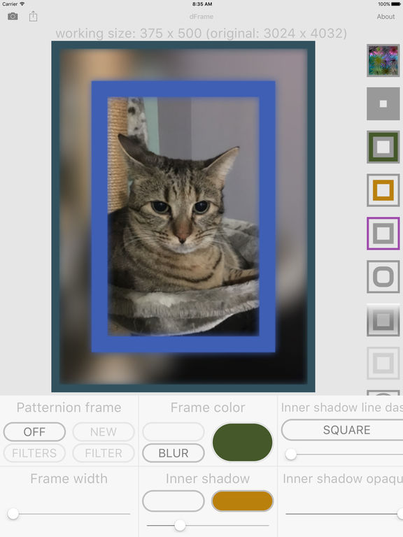 dFrame - Powerful image frame (border) generator Screenshots
