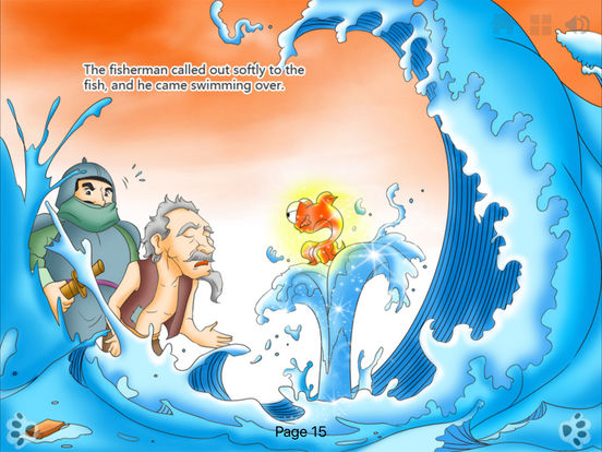 Interactive Book-The Fisherman and the Goldfish-iBigToy iPad Screenshot 1