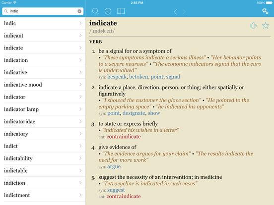 LexicEN English Dictionary & Thesaurus (Lite Version) iPad Screenshot 1