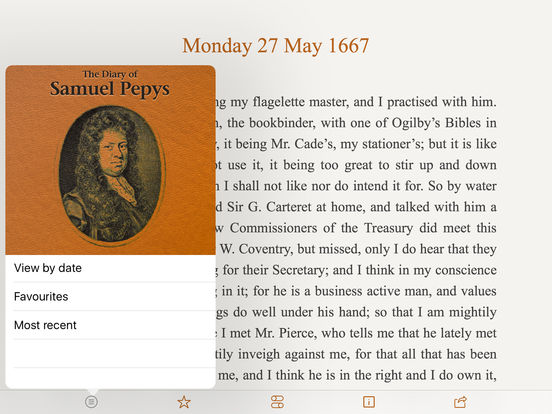 Pepys Diary iPad Screenshot 1