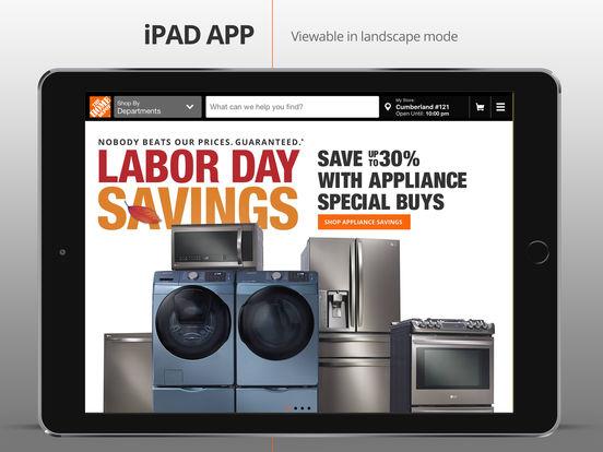 The Home Depot iPad Screenshot 1