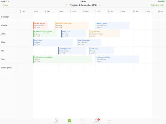 ServiceM8 iPad Screenshot 1