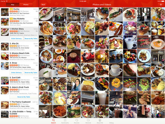 Yelp screenshot
