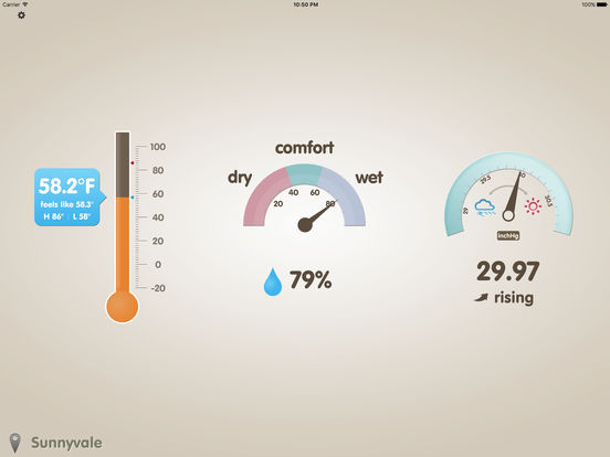 Thermo-Hygrometer (Barometer, Feels Like, THI) Screenshot