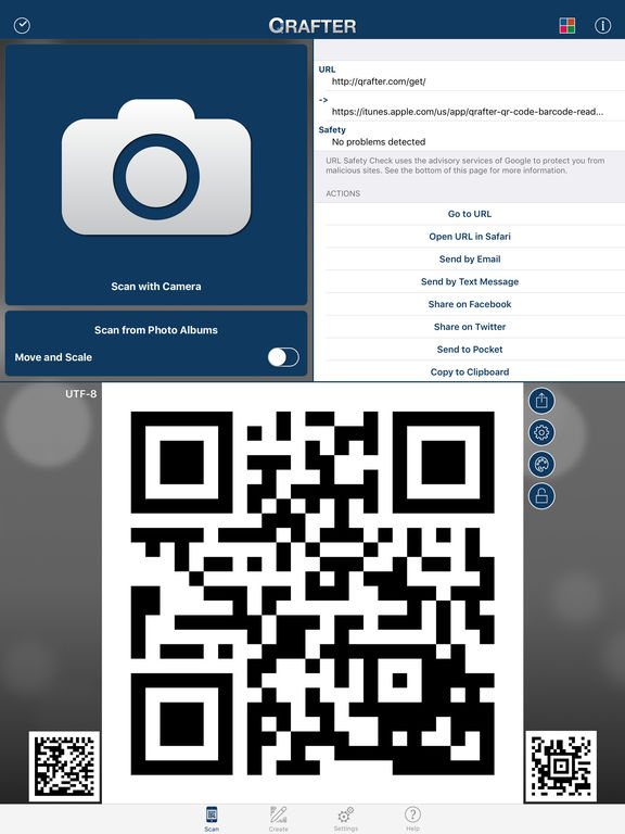 Qrafter - QR Code Reader and Generator Screenshots