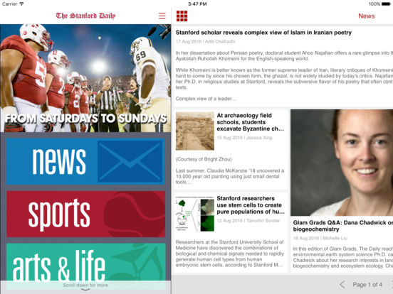 stanford daily essay exchange Stanford report delivers news and information about the stanford community via email each weekday it includes the latest news, campus announcements and event listings, with extensive links to the.