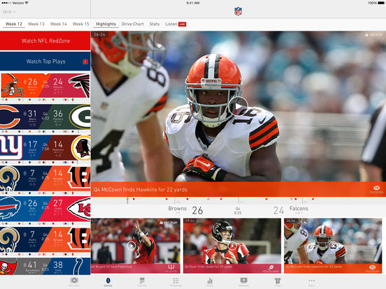 NFL.com Game Center Lite iPad Screenshot 1