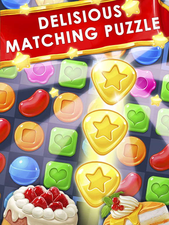 Screenshots of Cookie & Candy Pop - Best Match 3 Puzzle Game 2016 for iPad