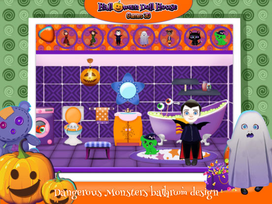 App shopper halloween doll house design decoration game for 3d home decoration games