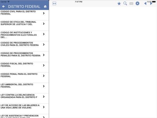 Codigos Estatales del Distrito Federal iPad Screenshot 1