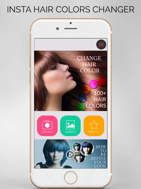App Shopper Insta Hair Color Changer  Cosmeticmakeup Tool Replace Hair Sh