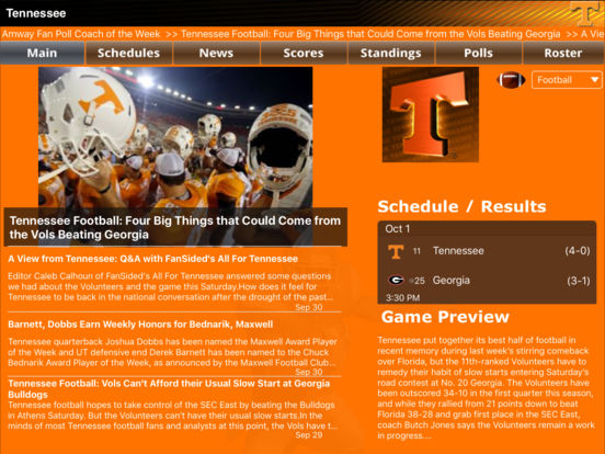 Tennessee Volunteers College SuperFans screenshot 5