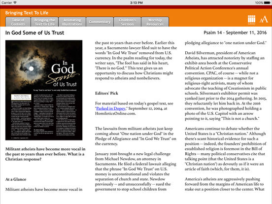Homiletics for iPad iPad Screenshot 1
