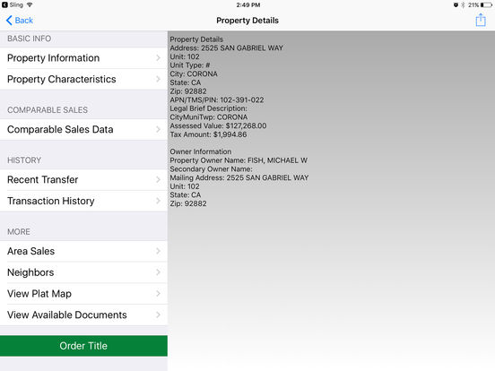 Fidelity TitleForce iPad Screenshot 2