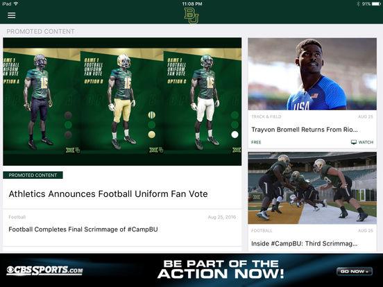 Baylor Bears iPad Screenshot 5