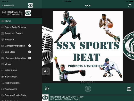 Spartan Sports Network iPad Screenshot 1