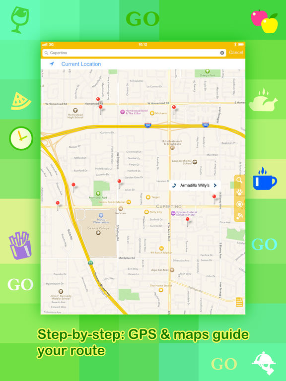 Where To Go? - Find Points of Interest using GPS. Screenshots
