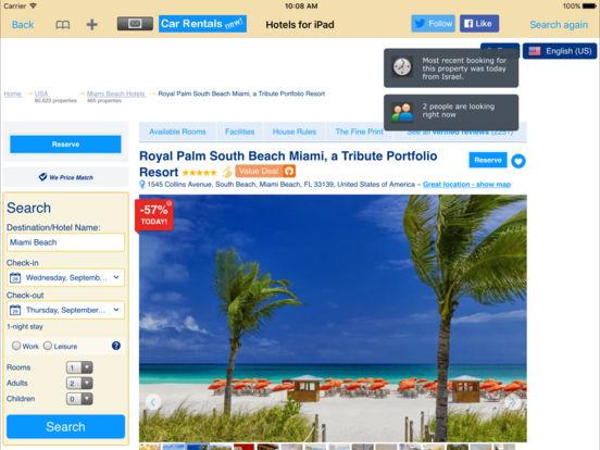 Hotels for iPad iPad Screenshot 2