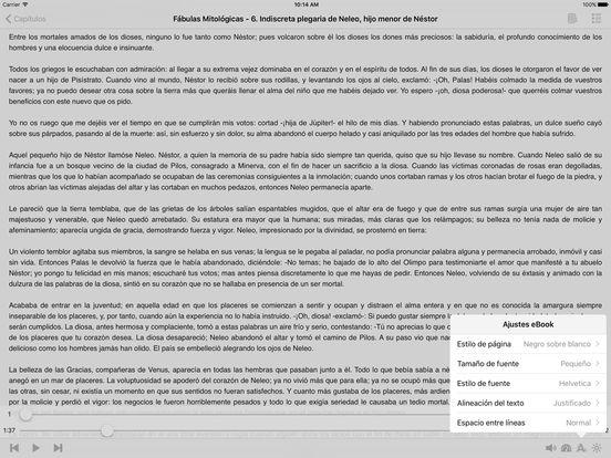 Fábulas Mitológicas (AudioEbook) iPad Screenshot 1