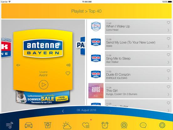 ANTENNE BAYERN iPad Screenshot 1