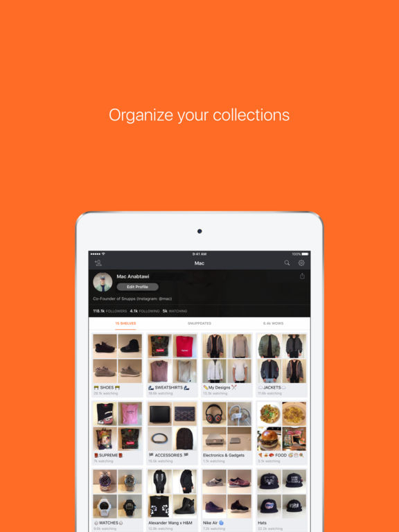 Snupps - Collect Organize Share screenshot