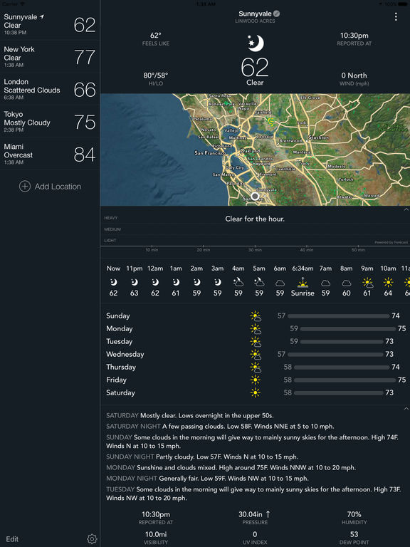 BeWeather 2 - Personal Weather for Phone & Watch Screenshots