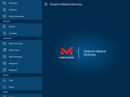 Dorland's Medical Dictionary iPad Screenshot 1