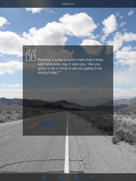Daily Running Quotes - MilePost screenshot