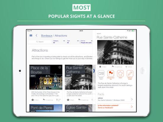 Bordeaux Guide de Voyage iPad Screenshot 2